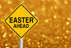 Easter Ahead Road Sign Stock Photos