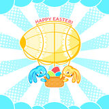 Easter airship Royalty Free Stock Photos