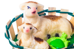 Easter almond paste lamb Stock Photos