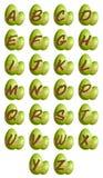 Easter alphabet stock photo