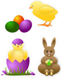 Easter animals card Royalty Free Stock Photo