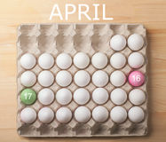 Easter april 2017 concept with eggs royalty free stock image