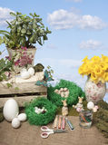 Easter arts and crafts Stock Photography