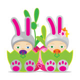 Easter Baby Stock Photography