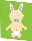 Easter Baby Boy Stock Photography