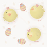 Easter baby chicks royalty free stock photo