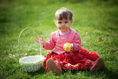 Easter baby girl Royalty Free Stock Photos