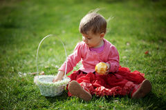 Easter baby girl Stock Photography