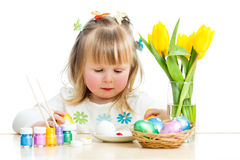Easter baby girl Royalty Free Stock Photography