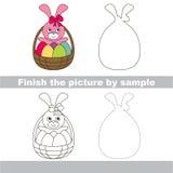 Easter backet. Drawing worksheet. Royalty Free Stock Image