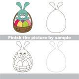 Easter backet. Drawing worksheet. Royalty Free Stock Photos