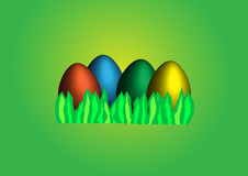 Easter background. Easter egg on the green background Stock Image