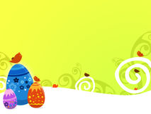 Easter background. A background illustration for easter time with eggs and birds Stock Photography