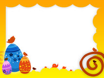 Easter background. A background illustration for easter time with eggs and birds Stock Images