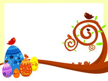 Easter background. A background illustration for easter time with eggs and birds Stock Photos
