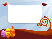 Easter background. A background illustration for easter time with eggs and birds Royalty Free Stock Photos