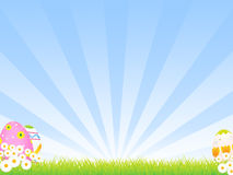 Easter Background. A sunny field background inspired by Easter. Clipping masks used and background placed on separate layer vector illustration