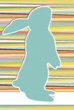 Easter background. Vintage background in 70s style with easter bunny Stock Photography