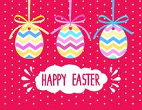 Easter background. Banner in shape of egg with ribbon and bow. Stock Images