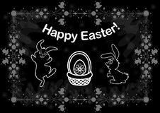 Easter background with bunnies Stock Photos