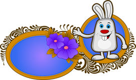 Easter background with bunny Royalty Free Stock Images