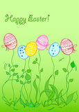 Easter background card,vector Stock Photo
