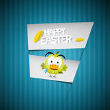 Easter Background with Chicken Royalty Free Stock Photo