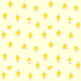 Easter background with chicks Royalty Free Stock Image