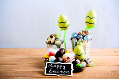 Easter background with chocolate Stock Image