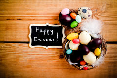Easter background with chocolate Royalty Free Stock Photography