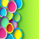 Easter background with colorful 3d Easter egg Royalty Free Stock Images
