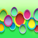 Easter background with colorful egg. Abstract stylish background with colorful 3d Easter eggs. Easter card with Easter eggs. Beautiful trendy Easter background Royalty Free Stock Photography
