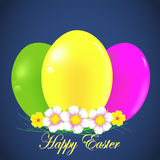 Easter background with colorful eggs Stock Images