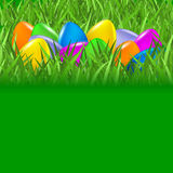 Easter background with colorful eggs Royalty Free Stock Photos
