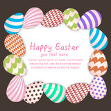 Easter Background with Colorful Hanging Egg Stock Photo