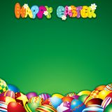 Easter Background with Colorful Painted Eggs Royalty Free Stock Images