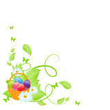 Easter background corner Stock Photos