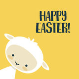 Easter background with cute lamb Royalty Free Stock Photos