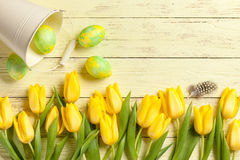Easter background. Easter day background, copy space Royalty Free Stock Photography