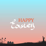 Easter background, with easter bunny. Stock Image