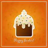 Easter background with easter cake illistration Royalty Free Stock Images