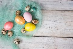 Easter background, Easter eggs. Royalty Free Stock Photo