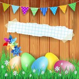 Easter background with Easter eggs and copy space Royalty Free Stock Photography