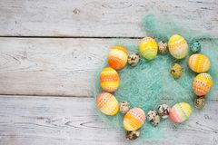 Easter background, Easter eggs. Stock Photography