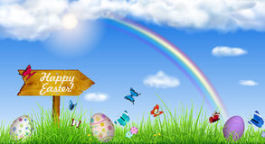 Easter background with Easter eggs Stock Images