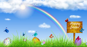 Easter background with Easter eggs Royalty Free Stock Photos