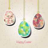 Easter background with easter eggs spring collection. Vector illustration Royalty Free Stock Photography