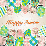 Easter background with easter eggs spring collection. Vector illustration stock illustration