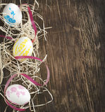Easter background with Easter eggs Royalty Free Stock Photo