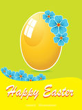 Easter background with egg Royalty Free Stock Image